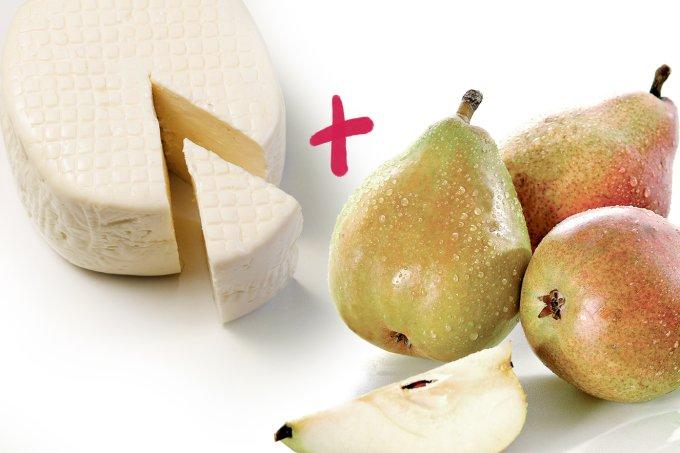 Vantagens do queijo e da fruta