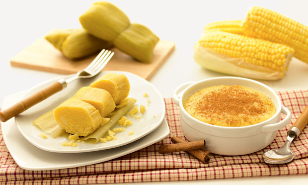 Compare pamonha e curau de milho