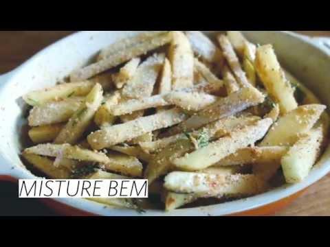 Batatas crocantes e saudáveis