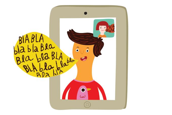 Criança no tablet