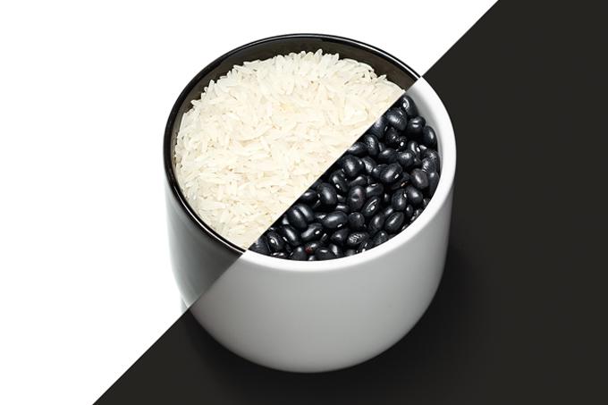 Combine arroz com feijão