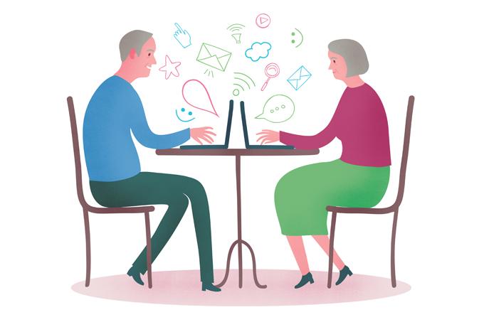 Benefícios da internet para os idosos