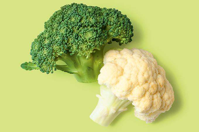 Brócolis e couve-flor são da mesma família