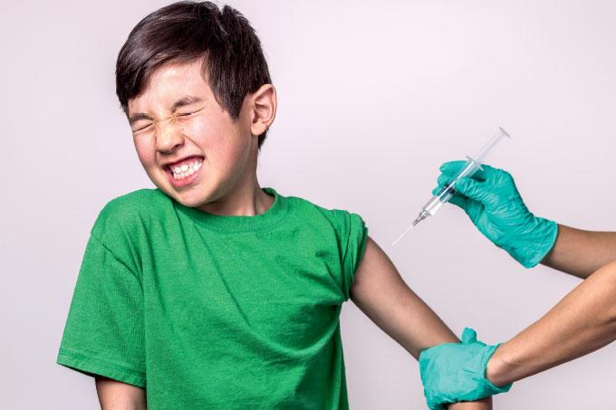 Vacinação infantil contra doenças