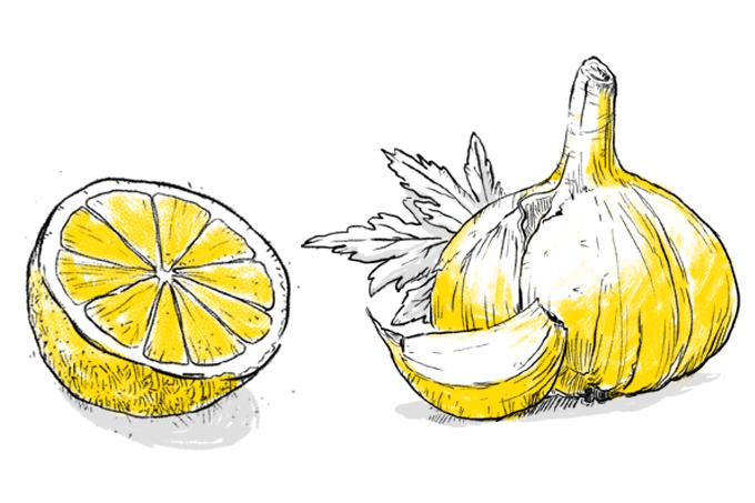 Limão e alho limpam as veias do coração
