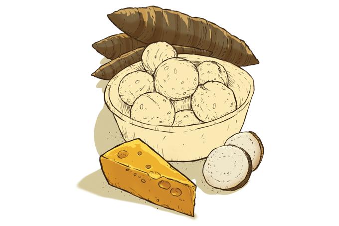 Pão de queijo mais saudável