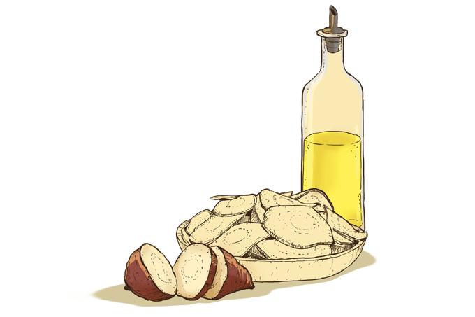 Batata chips caseira é melhor para a saúde