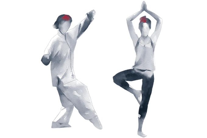 Tai chi e ioga contra derrame
