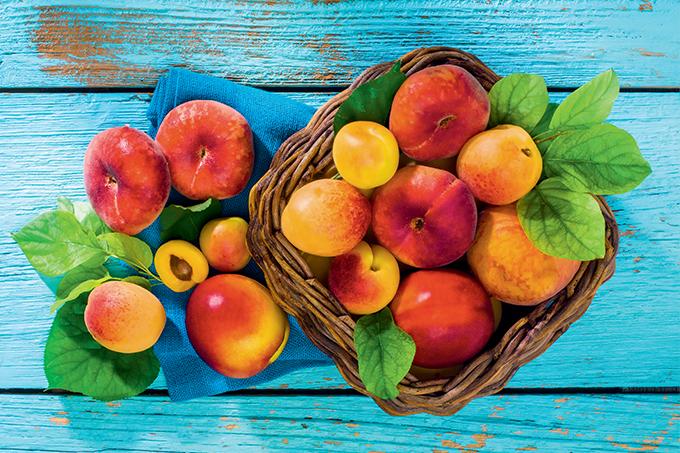 Benefícios de pêssego e damasco
