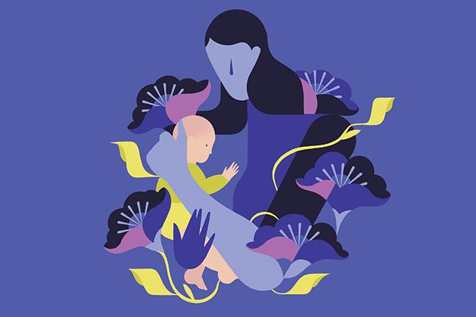 Sintomas da depressão pós-parto.