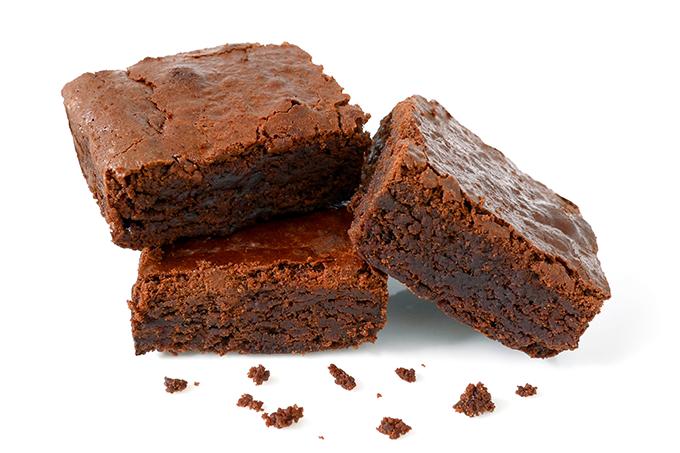 Receita de brownie com grão-de-bico.