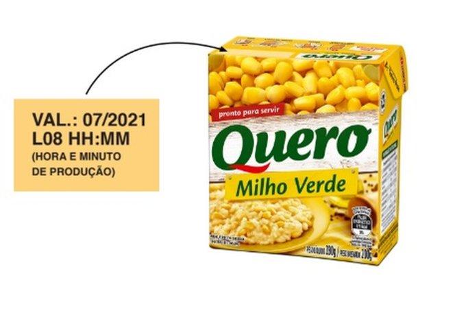 Recolhimento de milho verde da marca Quero, Heinz