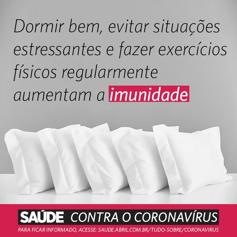 Dormir bem, evitar situações estressantes e fazer exercícios físicos regularmente aumentam a imunidade
