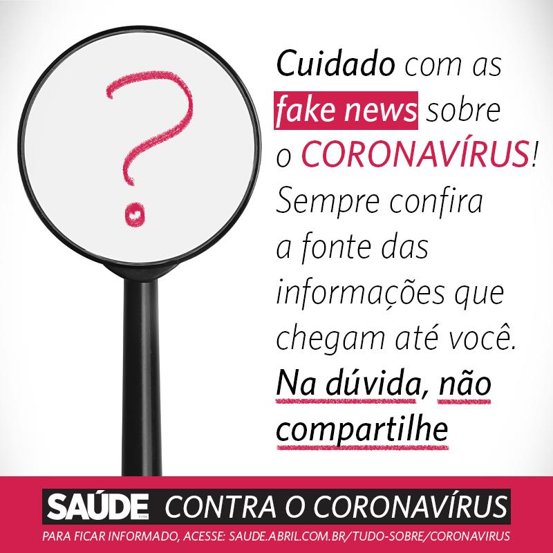Cuidado com as fake news sobre o coronavírus