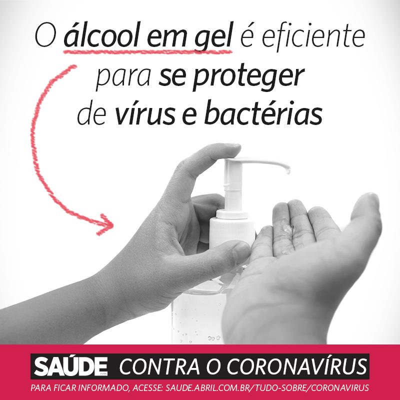 O álcool em gel é eficiente para se proteger de vírus e bactérias