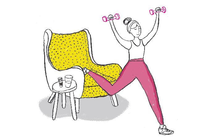 Para melhorar o humor, levante da cadeira