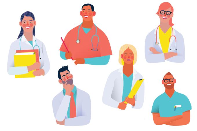 médicos e hospitais contra o coronavírus