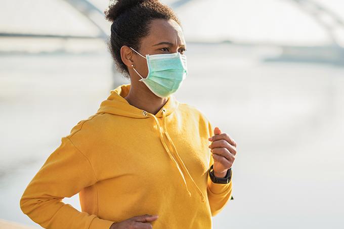 Uso de máscaras durante exercícios