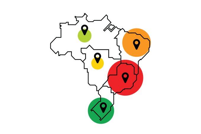 A disseminação do coronavírus no Brasil