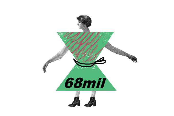 ilustração de mulher em formato de ampulheta