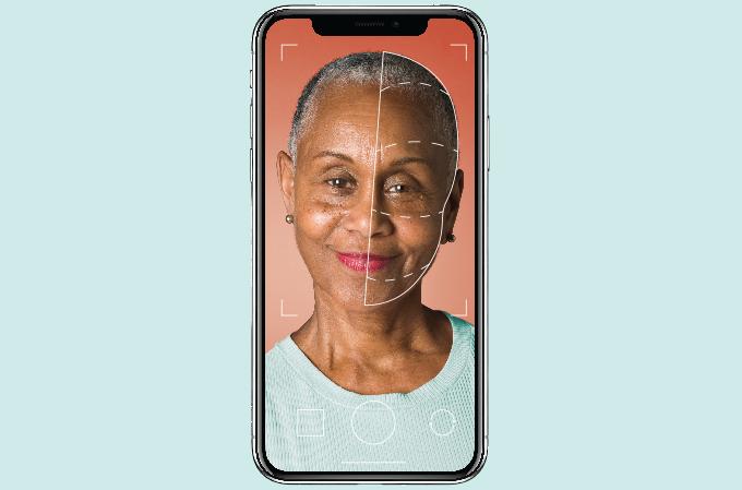 Envelhecimento da pele: aplicativo