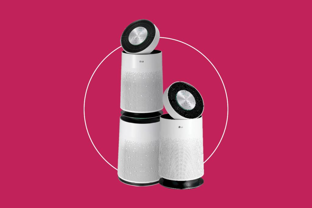Purificador com dois filtros e purificador com um filtro (respectivamente)