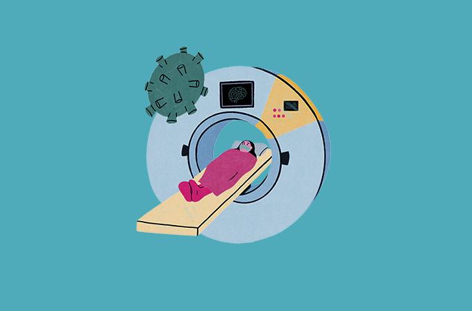 ilustração de tomografia computadorizada