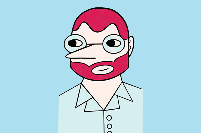 caricatura do editor luiz schwarcz
