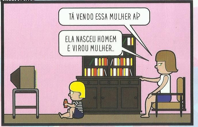 ilustração de uma menina vendo tv com sua mãe