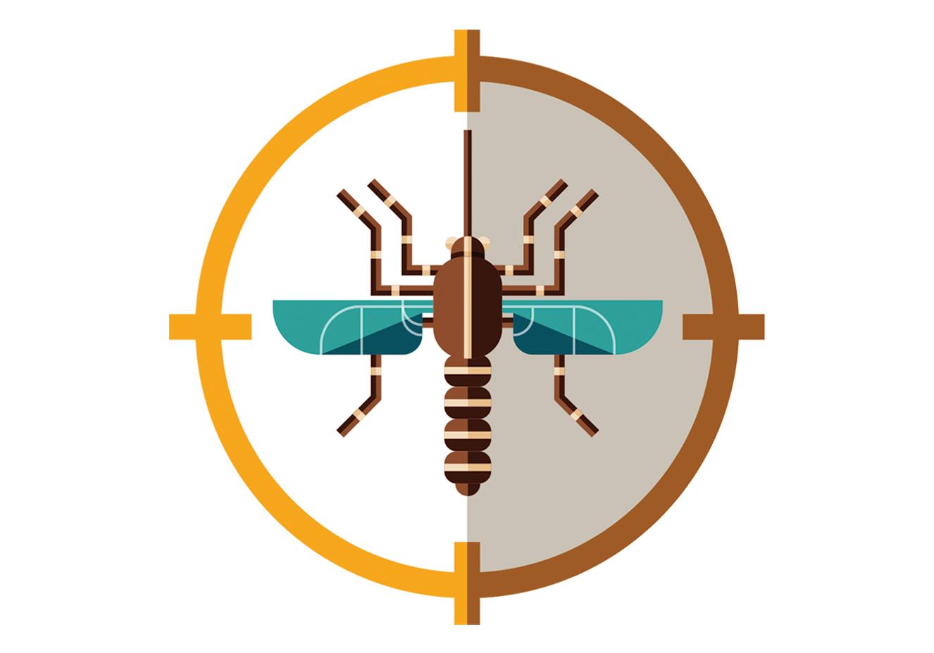 ilustração do mosquito da dengue