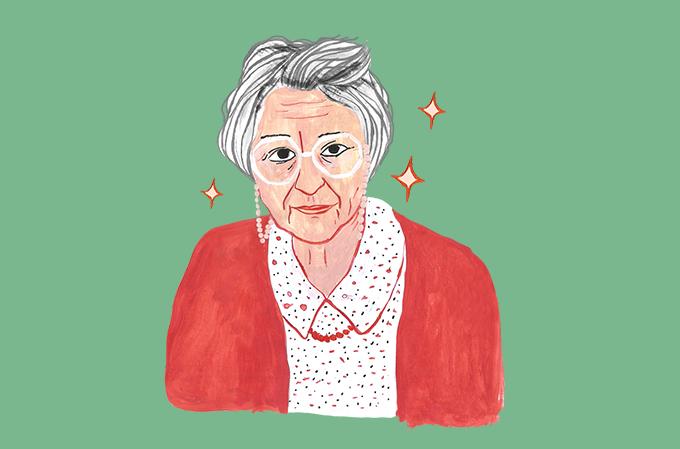 caricatura da médica e psicanalista Françoise Dolto