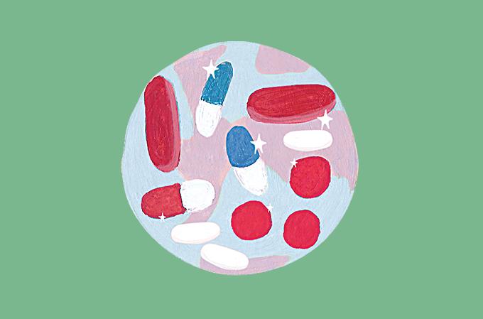 ilustração de comprimidos