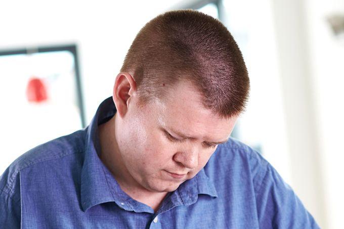 Homem com obesidade