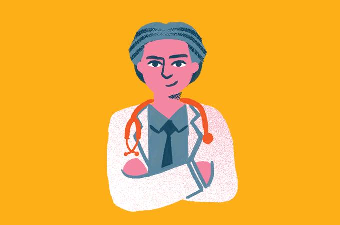 caricatura do médico claudio domênico