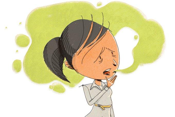 o que causa mau hálito