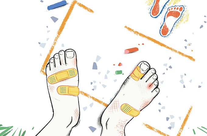 como cuidar dos pés